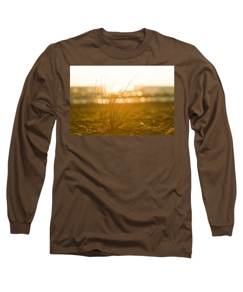 Long Sleeve T-Shirt featuring the photograph Sea Oats Sunset by Sebastian Musial