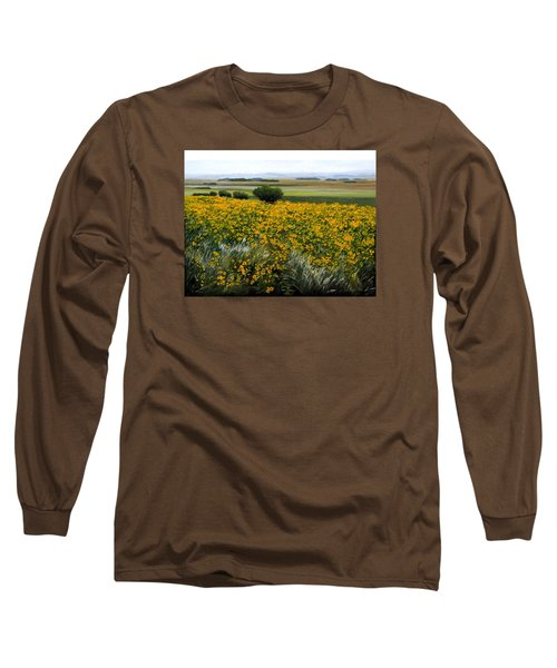 Sea Of Sunflowers Long Sleeve T-Shirt