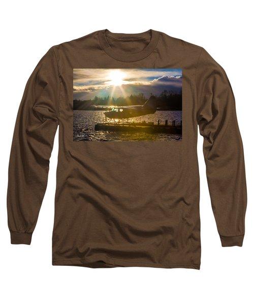 Seaplane Sunset Long Sleeve T-Shirt