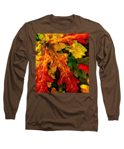 Long Sleeve T-Shirt featuring the digital art Season's End by Chuck Mountain