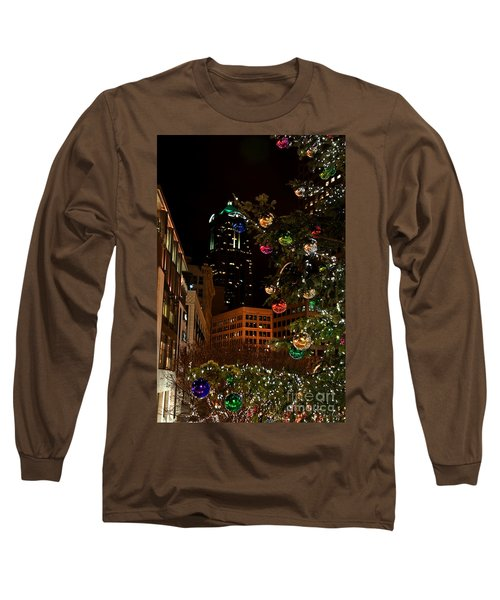 Seattle Downtown Christmas Time Art Prints Long Sleeve T-Shirt