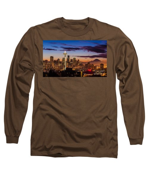 Seattle Fog Sunrise Long Sleeve T-Shirt