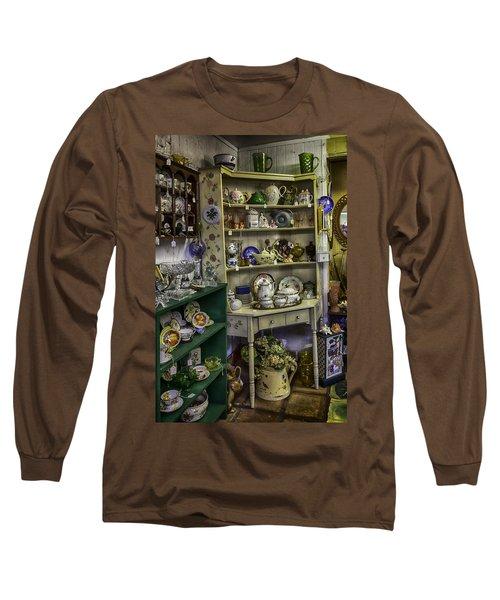 Second Hand Rose Long Sleeve T-Shirt by Lynn Palmer