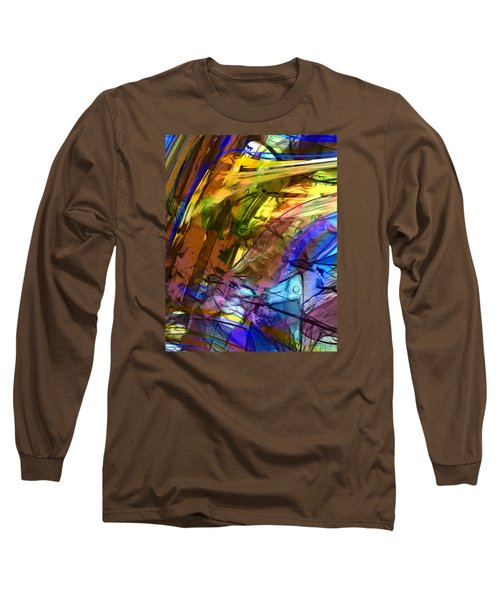 Long Sleeve T-Shirt featuring the painting Secret Animal by Richard Thomas
