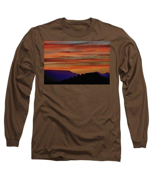 Sedona Az Sunset 2 Long Sleeve T-Shirt by Ron White