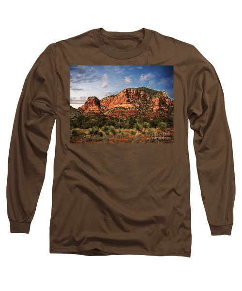 Long Sleeve T-Shirt featuring the photograph Sedona Vortex  And Yucca by Barbara Chichester