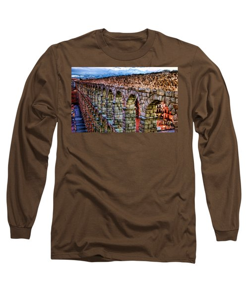 Segovia Aqueduct Spain By Diana Sainz Long Sleeve T-Shirt
