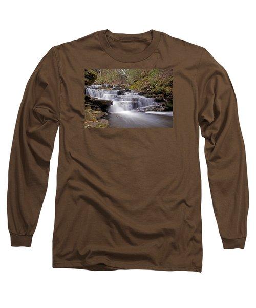 Seneca Falls In Spring Long Sleeve T-Shirt by Shelly Gunderson