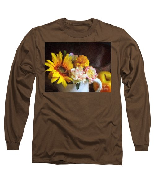 Long Sleeve T-Shirt featuring the digital art September Still Life by Lianne Schneider