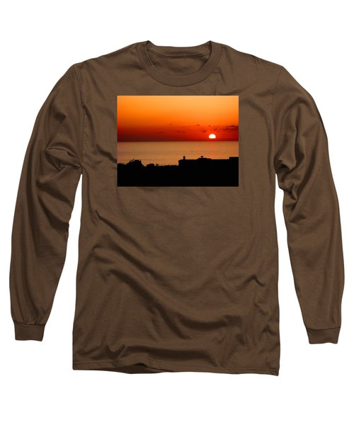 Set Into The Sea Long Sleeve T-Shirt by Scott Carruthers