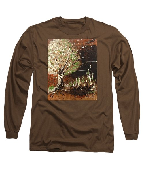 Long Sleeve T-Shirt featuring the painting Shadows by Holly Carmichael