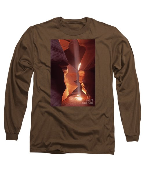 Shaft Of Light Antelope Canyon Long Sleeve T-Shirt by Liz Leyden