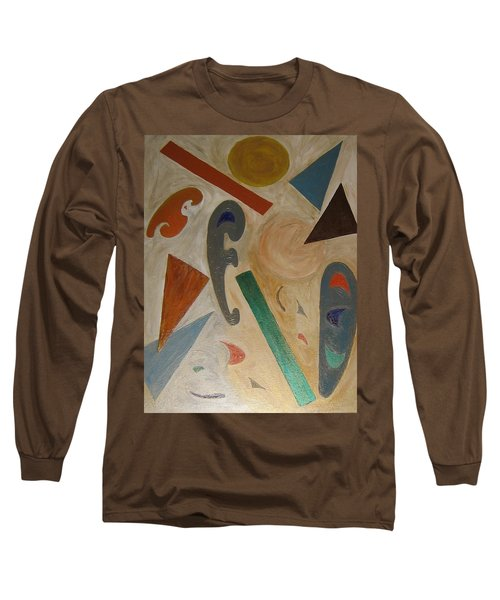 Shapes Long Sleeve T-Shirt by Barbara Yearty