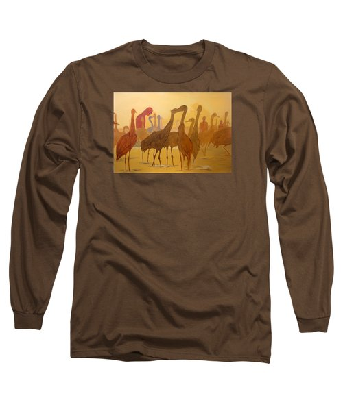 Long Sleeve T-Shirt featuring the painting Shapes Just Shapes Formas Nada Mas by Lazaro Hurtado