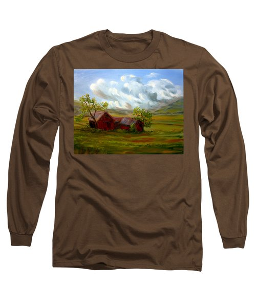 Long Sleeve T-Shirt featuring the painting Shelter From The Storm by Meaghan Troup