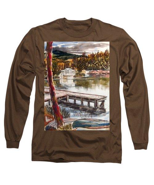 Shepherd Mountain Lake In Twilight Long Sleeve T-Shirt by Kip DeVore