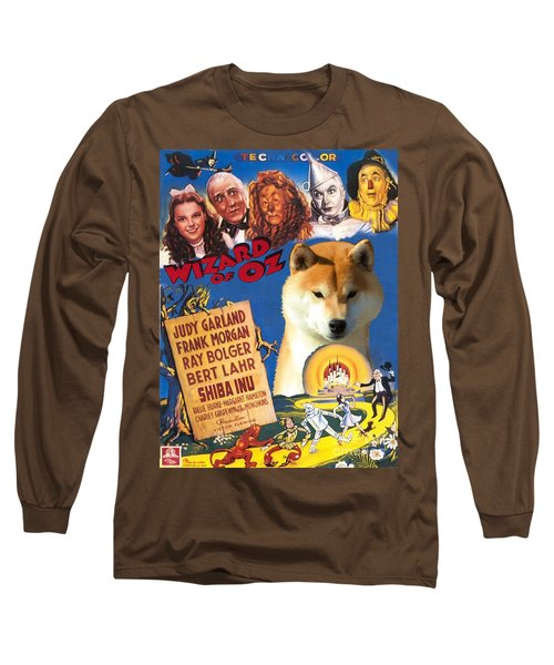 Shiba Inu Art Canvas Print - The Wizard Of Oz Movie Poster Long Sleeve T-Shirt