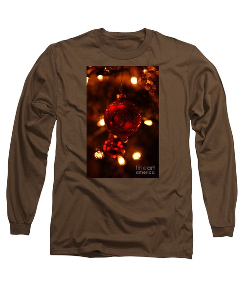 Shimmering Reflection Long Sleeve T-Shirt by Linda Shafer