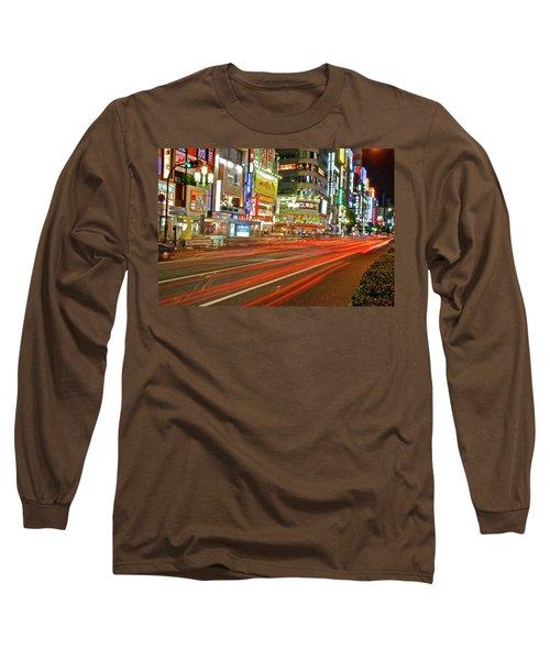 Shinjuku Neon Strikes Long Sleeve T-Shirt