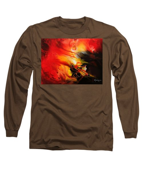 Long Sleeve T-Shirt featuring the painting Shooting Star by Kume Bryant