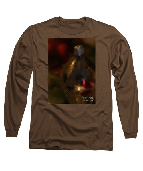 Silver And Gold Long Sleeve T-Shirt by Linda Shafer