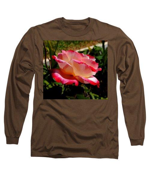 Single Rose Long Sleeve T-Shirt by Pamela Walton