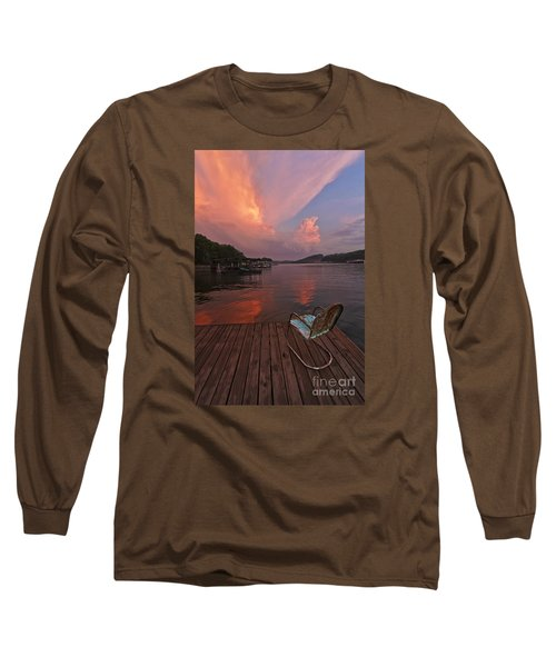 Sittin' On The Dock Long Sleeve T-Shirt by Dennis Hedberg