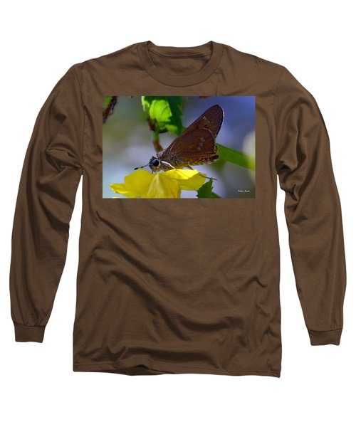 Long Sleeve T-Shirt featuring the photograph Skipper Butterfly by Debra Martz