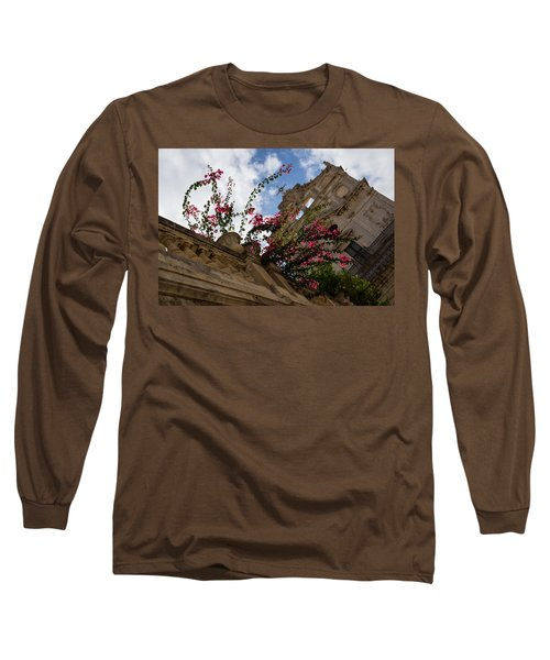 Long Sleeve T-Shirt featuring the photograph Sky Blossoms by Georgia Mizuleva
