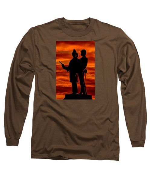 Sky Fire - 73rd Ny Infantry Fourth Excelsior Second Fire Zouaves-b1 Sunrise Autumn Gettysburg Long Sleeve T-Shirt