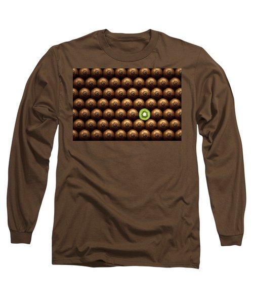 Sliced Kiwi Between Group Long Sleeve T-Shirt by Johan Swanepoel