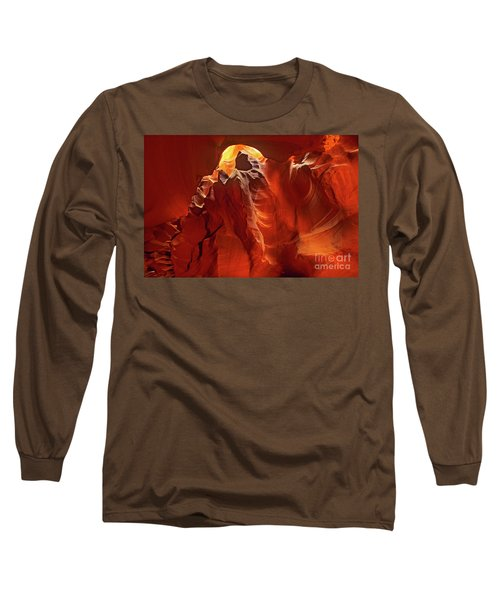 Slot Canyon Formations In Upper Antelope Canyon Arizona Long Sleeve T-Shirt by Dave Welling