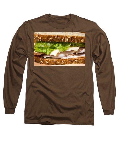 Smoked Turkey Sandwich Long Sleeve T-Shirt by Edward Fielding