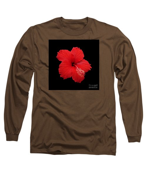 Long Sleeve T-Shirt featuring the photograph Snowflake Hibiscus by Judy Whitton