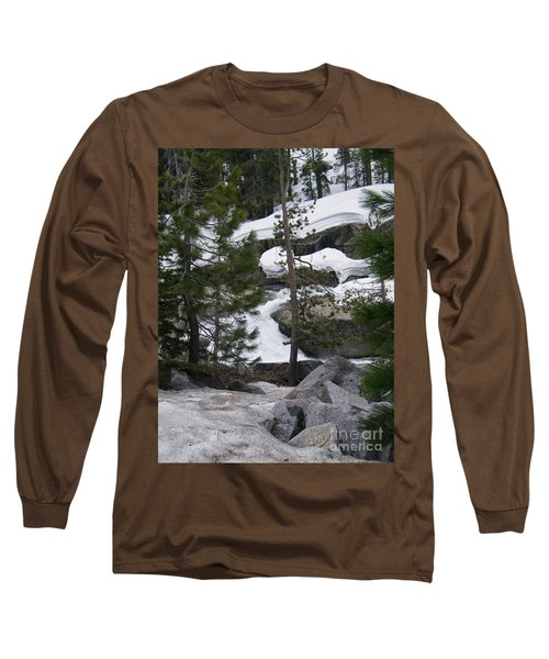 Long Sleeve T-Shirt featuring the photograph Snowy Sierras by Bobbee Rickard