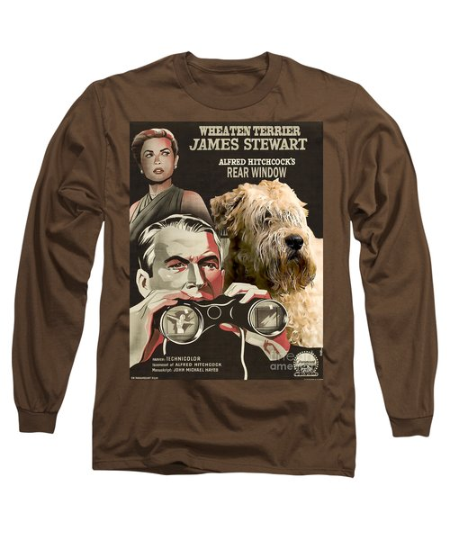 Soft-coated Wheaten Terrier  - Wheaten Terrier Art Canvas Print - Rear Window Movie Poster Long Sleeve T-Shirt