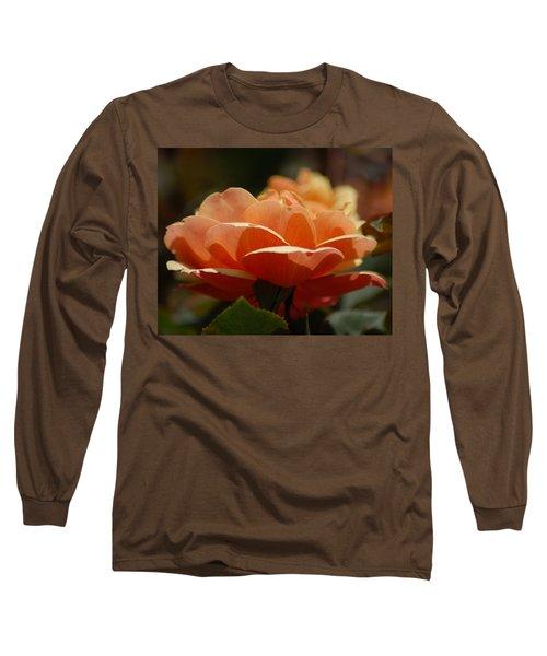 Soft Orange Flower Long Sleeve T-Shirt by Matt Harang