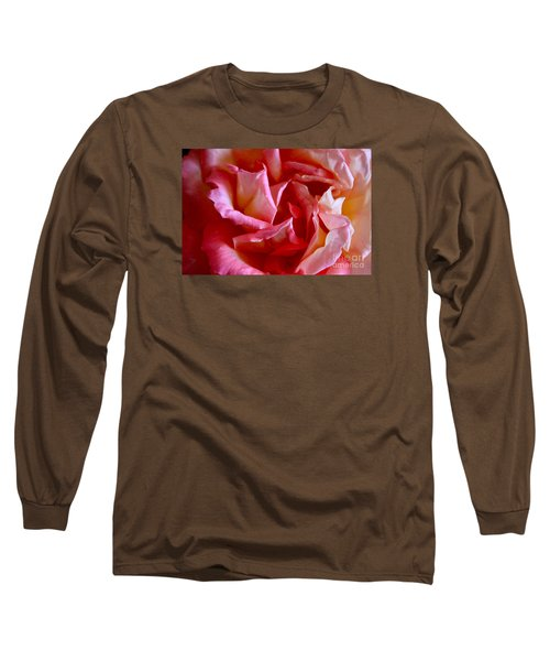 Long Sleeve T-Shirt featuring the photograph Soft Pink Petals Of A Rose by Janice Rae Pariza
