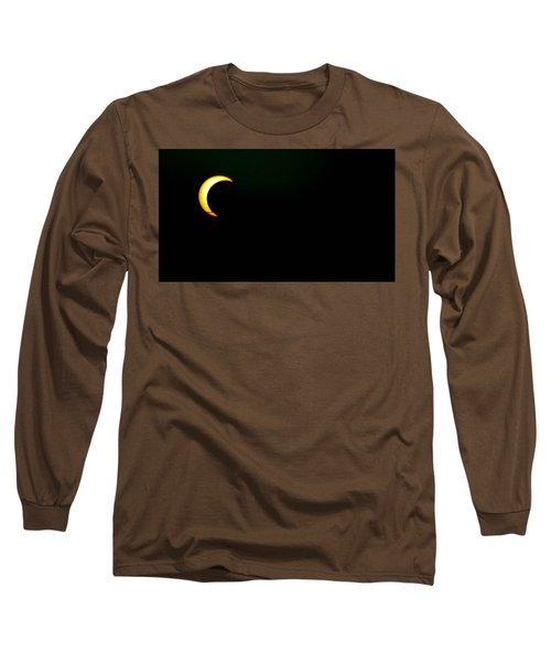 Long Sleeve T-Shirt featuring the photograph Solar Eclipse 2012 by Angela J Wright