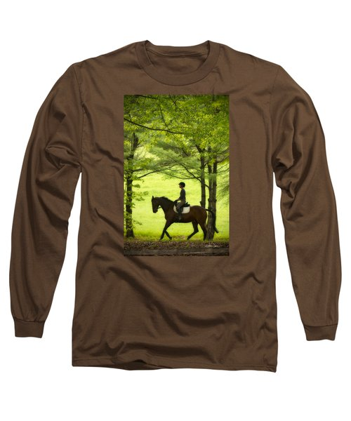 Long Sleeve T-Shirt featuring the photograph Solitude by Joan Davis