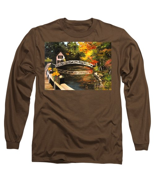 Somesville Maine Footbridge Long Sleeve T-Shirt by Eileen Patten Oliver
