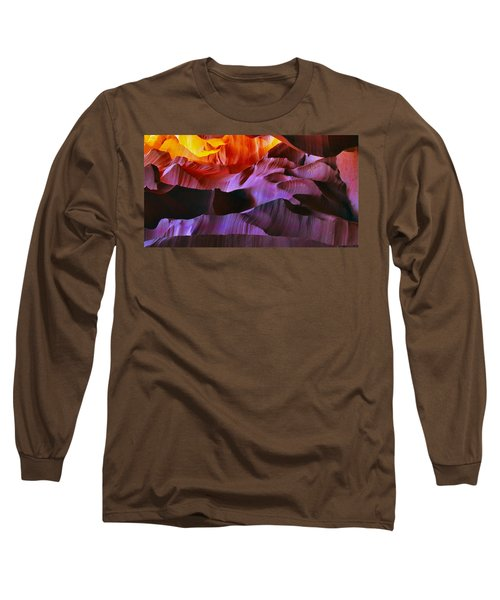 Long Sleeve T-Shirt featuring the photograph Somewhere In America Series - Transition Of The Colors In Antelope Canyon by Lilia D