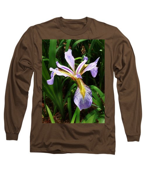 Southern Blue Flag Iris Long Sleeve T-Shirt