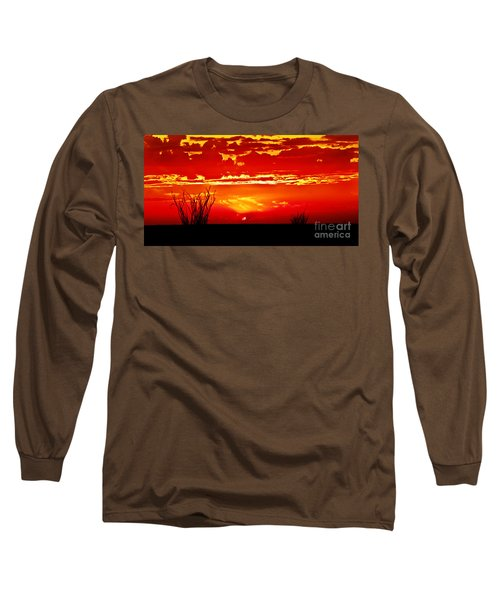 Southwest Sunset Long Sleeve T-Shirt by Robert Bales