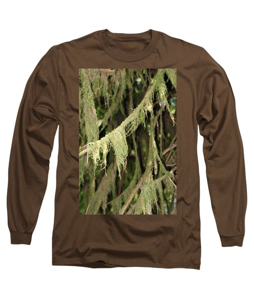 Spanish Moss In Olympic National Park Long Sleeve T-Shirt by Connie Fox