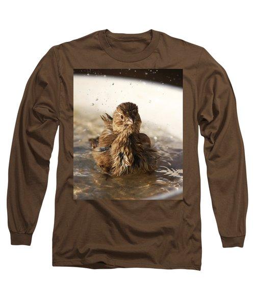 Sparrow Bathing Long Sleeve T-Shirt
