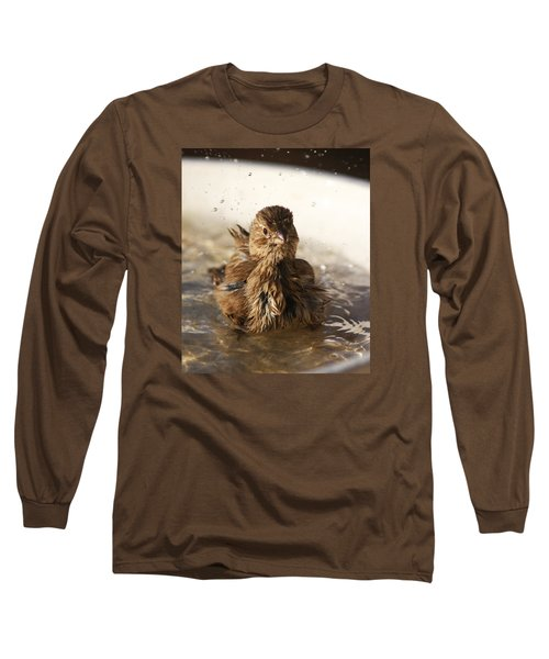 Sparrow Bathing Long Sleeve T-Shirt
