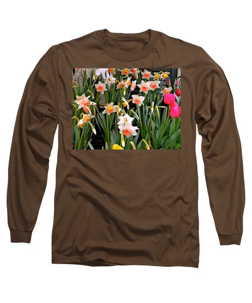 Long Sleeve T-Shirt featuring the photograph Spring Daffodils by Ira Shander