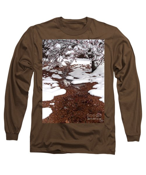 Long Sleeve T-Shirt featuring the photograph Spring Into Winter by Kerri Mortenson