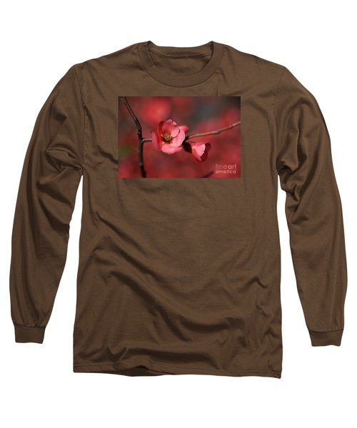 Spring Richness - Flowering Quince Long Sleeve T-Shirt by Joy Watson